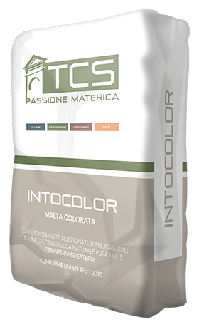 Eco intonaco biocompatibile, pigmentato